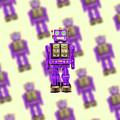 Star Strider Robot Purple Pattern by YoPedro