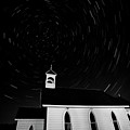 Star Tracks Over Saint Columba Anglican Country Church by Mark Duffy