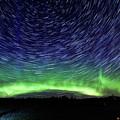 Star Trails And Aurora by Linda Ryma