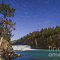 Star Trails And Moonbow Over Bow Falls by Alan Dyer