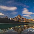 Star Trails Behind Mount Chephren by Alan Dyer