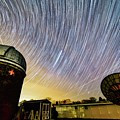 Star Trails Over Custer Observatory by Justin Starr