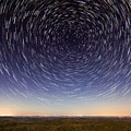 Star Trails Over Mountains by Cris Ritchie