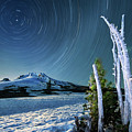 Star Trails Over Mt. Hood by William Freebilly photography