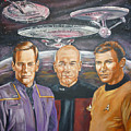 Star Trek Tribute Enterprise Captains by Bryan Bustard