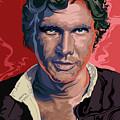Star Wars Han Solo Pop Art Portrait by Garth Glazier