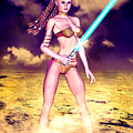 Star Wars Inspired Fantasy Pin-up Girl by Alicia Hollinger