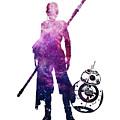Star Wars Rey And Bb-8 by Elmas POLAT BASOGLU