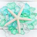 Starfish And Sea Glass by Terry DeLuco