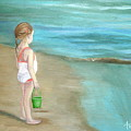Staring At The Sea by Angeles M Pomata