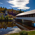 Stark Covered Bridge And Church by Jeff Folger