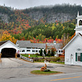Stark Covered Bridge And Village by Brett Pelletier