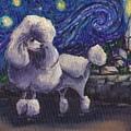 Starry Night Poodle by Robin Wiesneth