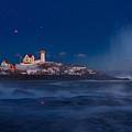 Starry Nubble Lighthouse by Dale J Martin