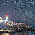 Starry Sky Of The Nubble Light In York Me Cape Neddick by Toby McGuire