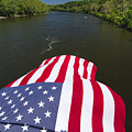 Stars And Stripes Flies Over The Delaware River by George Oze