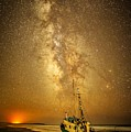 Stars Over Fishing Boat by Unsplash