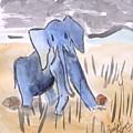 Startled Elephant by Caroline Henry