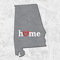 State Map Outline Alabama With Heart In Home by Elaine Plesser