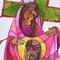 Stations Of The Cross - 06 St. Veronica Wipes The Face Of Jesus - Mmvew by Br Mickey McGrath OSFS