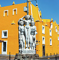 Statue And Yellow Theater by Jess Kraft