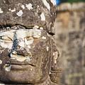 Statue At Angkor Thom by Bill Brennan - Printscapes