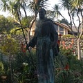 Statue At Mission Carmel by Jeanie Watson