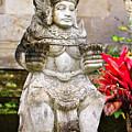 Statue At Pura Besakih by Joerg Lingnau