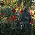 Statue In The Garden  by Jeanie Watson