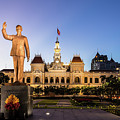 Statue Of Ho Chi Minh In Front Of The People's Comittee Building In Saigon by Didier Marti