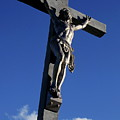 Statue Of Jesus Christ On The Cross by Sami Sarkis
