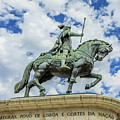 Statue Of King John I Lisbon by Benny Marty