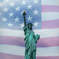 Statue Of Liberty American Flag by Terry DeLuco