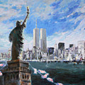 Statue Of Liberty And Tween Towers by Ylli Haruni