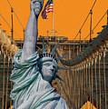 Statue Of Liberty - Brooklyn Bridge by Dorival Moreira