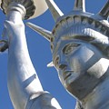 Statue Of Liberty Restaurant Courtyard Chandler Arizona 2005 by David Lee Guss