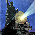 Statue Of Liberty With Steam Train, We Shall Not Fail by Long Shot