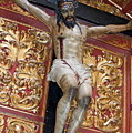 Statue Of The Crucifixion Inside The Catedral De Cordoba by Sami Sarkis