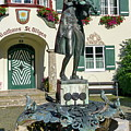 Statue Of Young Wolfgang Amadeus Mozart In St. Gilgen, Austria by Elenarts - Elena Duvernay photo