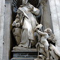 St. Bruno With Skull In St.peters Basilica by Gregory Dyer