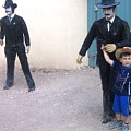 Statues Depicting Shooters In O.k. Corral Gunfight Tombstone Arizona 2004 by David Lee Guss