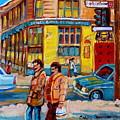 Ste. Catherine Street Montreal by Carole Spandau
