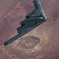 Stealth Over The Arizona Meteor Crater by Erik Simonsen