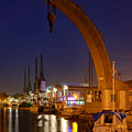 Steam Crane And Cranes, Bristol Harbour by Colin Rayner