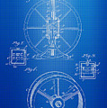 Steam Engine Blueprint by Brooke Roby