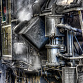 Steam Engine Detail by Jerry Fornarotto