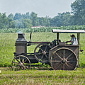 Steam Engine Plowing by David Arment