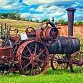 Steam Powered Tractor - Paint by Steve Harrington