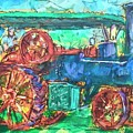 Steam Tractor by Les Leffingwell