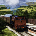Steam Train 2 Oil Painting Effect by Steve Purnell